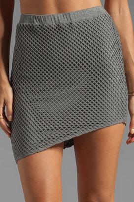 Riller & Fount Larry Fishnet Mini Skirt