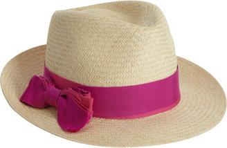 Lanvin Panama Hat with Ribbon Tie