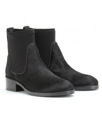 Acne COMET HAIRCALF ANKLE BOOTS