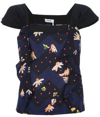Sonia Rykiel Sonia By ruffled panel shirt