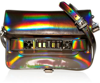 Proenza Schouler The PS11 Mini Classic holographic leather shoulder bag