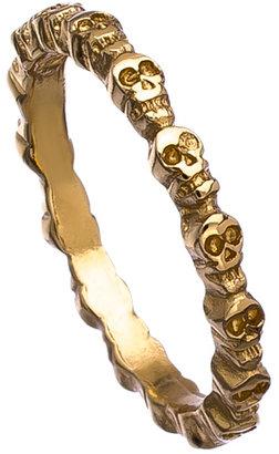 Bing Bang Gold Eternity Skull Ring