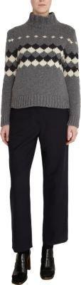 Marni Diamond Knit Turtleneck Sweater