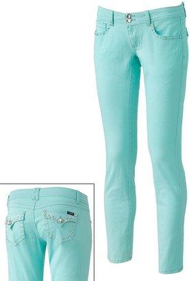 Angels rhinestone skinny jeans - juniors