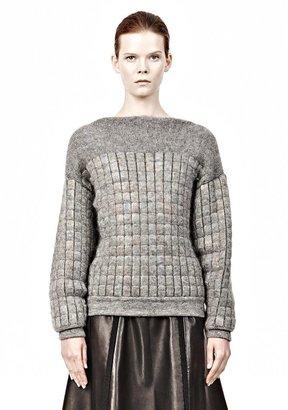 Alexander Wang Mirror Insert Mesh Long Sleeve Pullover