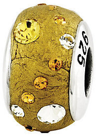 Prerogatives Sterling Yellow Molded Swarovski Crystal Bead $38.50 thestylecure.com