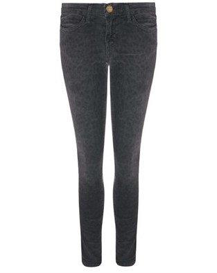Current/Elliott Charcoal Leopard Corduroy Jeans