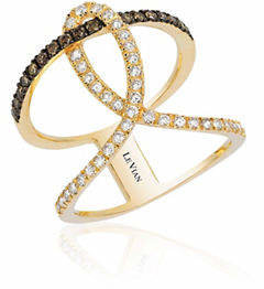 LeVian LE VIAN 14K Honey Gold Neo-Geo Loop Diamond Ring