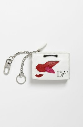 Diane von Furstenberg Shopping Bag Key Fob White Multi One Size