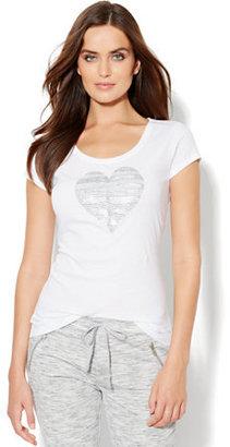 New York & Co. Love, NY&C Collection - Heart Logo Tee