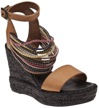 Hache Layered ankle wedge