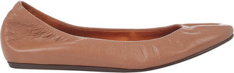 Lanvin Women's Leather Ballet Flats-TAN $495 thestylecure.com