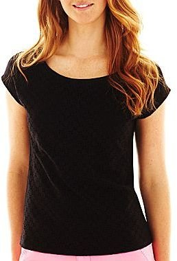 JCPenney St. John's Bay® Lace Tee