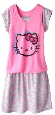 Hello Kitty Hello Style Girls' Short-Sleeve Dress - Pink