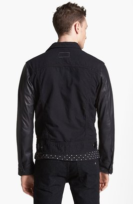 Rag and Bone rag & bone Canvas Jacket with Leather Sleeves