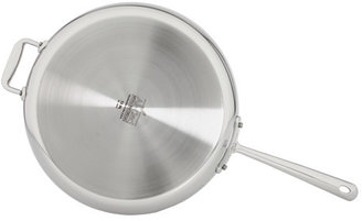 """All-Clad Stainless Steel 13"""" French Skillet With Loop And Lid"""