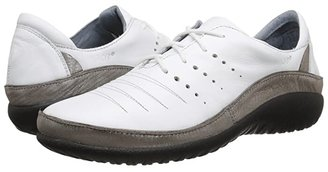 Naot Footwear Kumara (White Leather/Silver Threads Leather) Women's Lace up casual Shoes