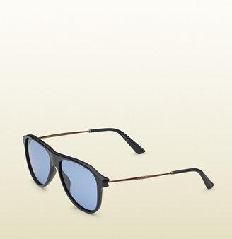 Gucci Blue Matte Aviator Sunglasses