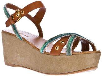 Car Shoe platform sandal