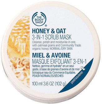 The Body Shop Honey & Oat 3-in-1 Scrub Mask 3.38 fl oz (100 ml)