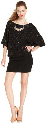 Rachel Roy Dress, Short-Sleeve Boatneck Sequined Sweater