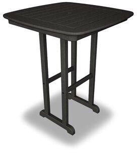 Polywood Nautical Counter Table Color: Black