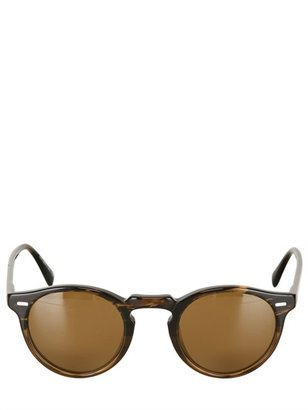 Oliver Peoples Gregory Peck Rounded Acetate Sunglasses