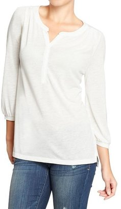 Old Navy Women's 3/4-Sleeve Pleated-Shoulder Tops