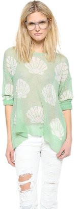 Wildfox Couture Shell Baby Loose Knit Sweater