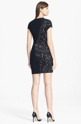 Narciso Rodriguez Jacquard Contrast Crewneck Dress