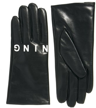 Asos Leather Stunning Printed Gloves