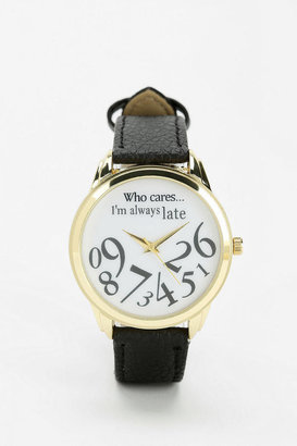 Urban Outfitters Always Late Watch