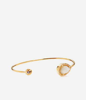 Henri Bendel Luxe Pear Semi Precious Delicate Cuff Bracelet