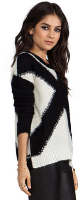 Elizabeth and James XX Pullover Sweater in Black/White