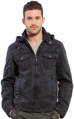 X-Ray Jeans Zip Hooded Jacket Navy
