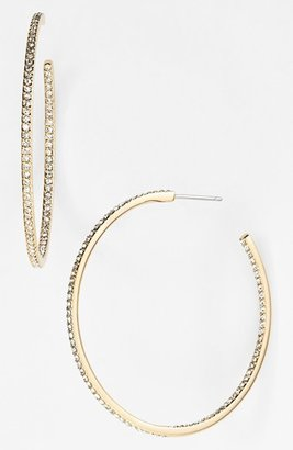 Women's Nadri Medium Inside Out Hoop Earrings (Nordstrom Exclusive) $60 thestylecure.com