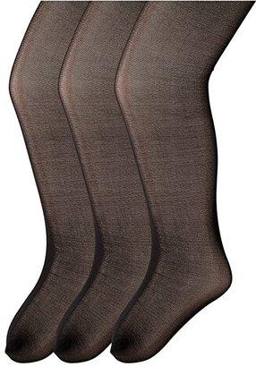 Jefferies Socks Jr. Miss Pantyhose 3-Pack (Toddler/Little Kid/Big Kid)