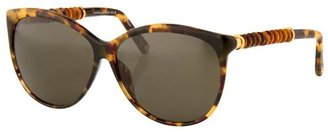 Oscar de la Renta Sunglasses With Tiger Eye Detail