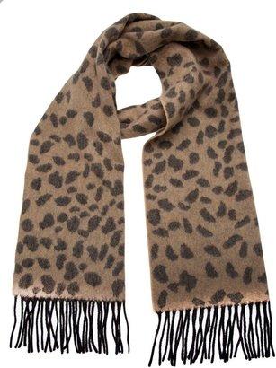 Lucien Pellat-Finet Lucien Pellat Finet cashmere leopard scarf