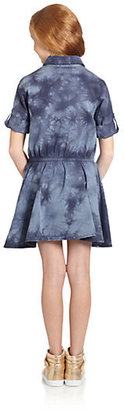 DKNY Girl's Tie-Dyed Denim Dress