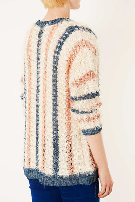Topshop Knitted Fluffy Lurex Cardi