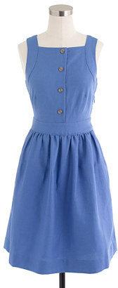 J.Crew Button-front dress in linen