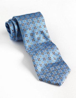 Black Brown 1826 Silk Floral Neat Print Tie