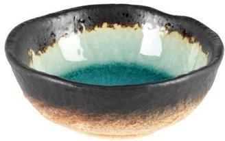 Sur La Table Kotobuki Turquoise Sky Glazed Round Dip Dish