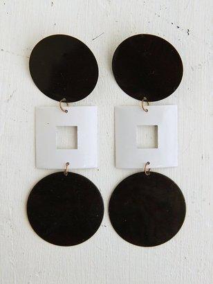 Free People Vintage Circle Square Mod Dangle Earrings