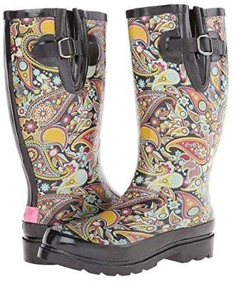 M&F Western Paisley (Black/Multi) Women's Rain Boots