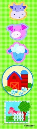 Amscan Farm Animals Stickers - 8 sheets