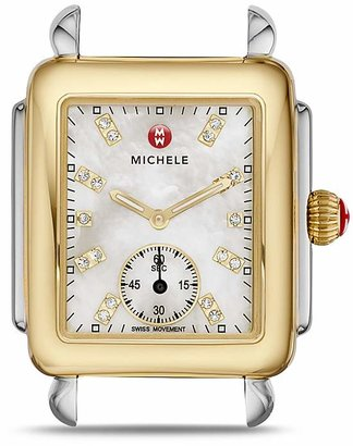 MICHELE Deco Two-Tone Diamond Dial Watch Head, 29 x 31mm $795 thestylecure.com