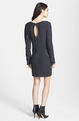 Leith Open Cable Knit Sweater Dress