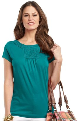 Chaps embellished soutache top